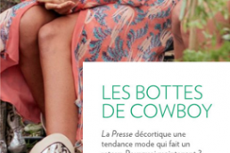 Myriam Laroche Eco-Fashion Journal La Presse